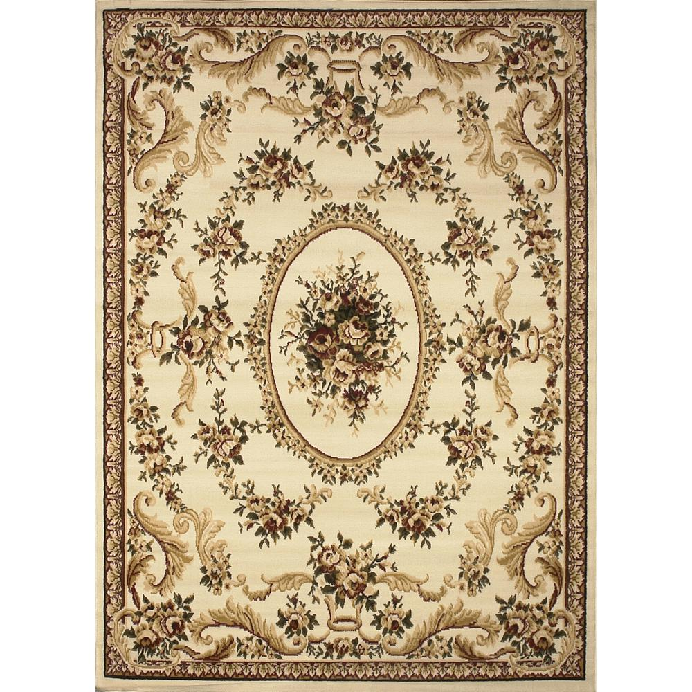 Oriental Rugs Grand Rapids: Home Dynamix Royalty Ivory 5 Ft. X 7 Ft. Indoor Area Rug-2