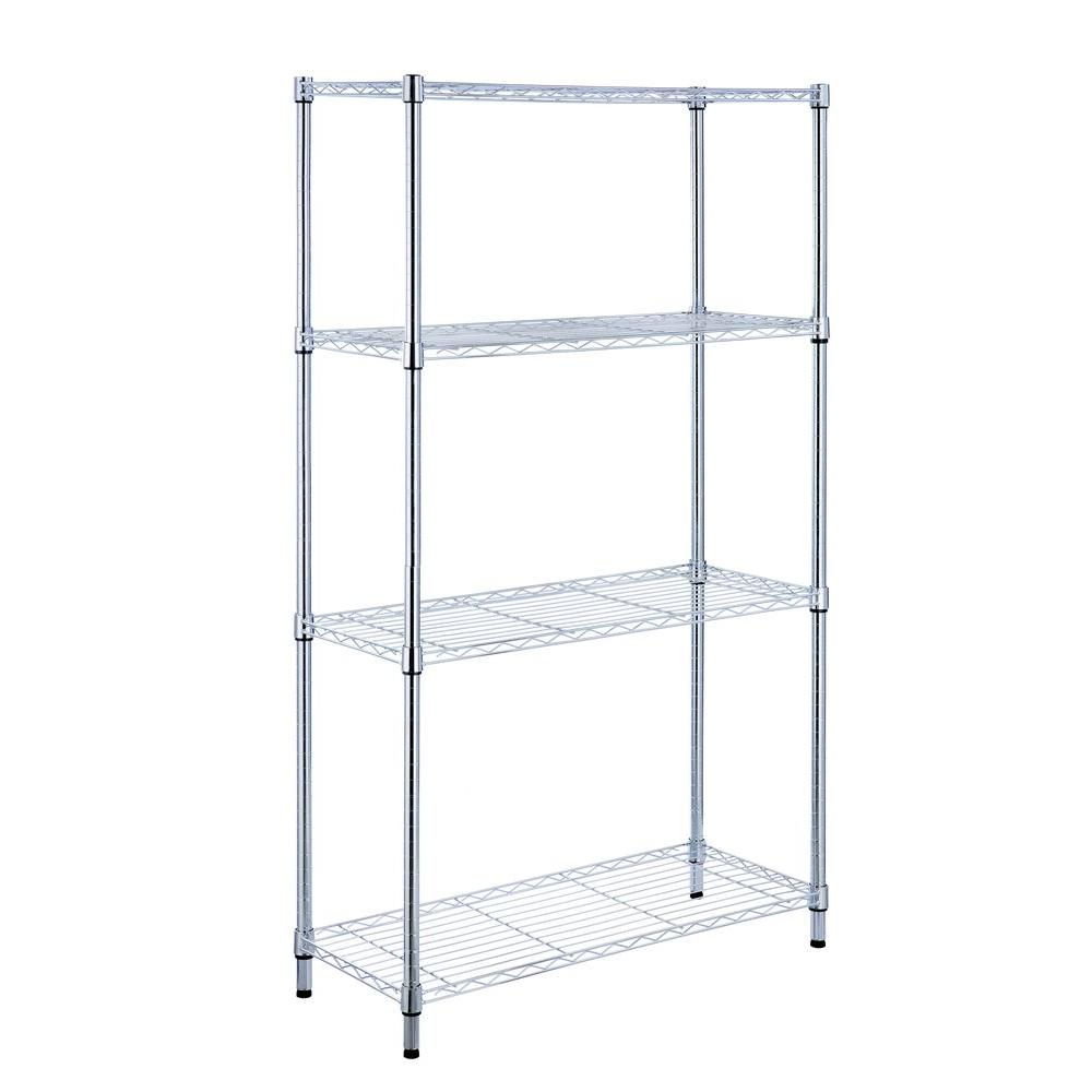 HDX 4-Shelf 36 in. W x 14 in. L x 54 in. H Storage Unit