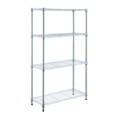 metal storage shelves. 4-shelf metal storage shelves