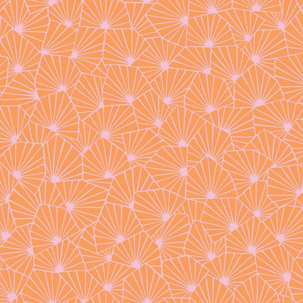 8 In X 10 In Blomma Orange Geometric Wallpaper Sample
