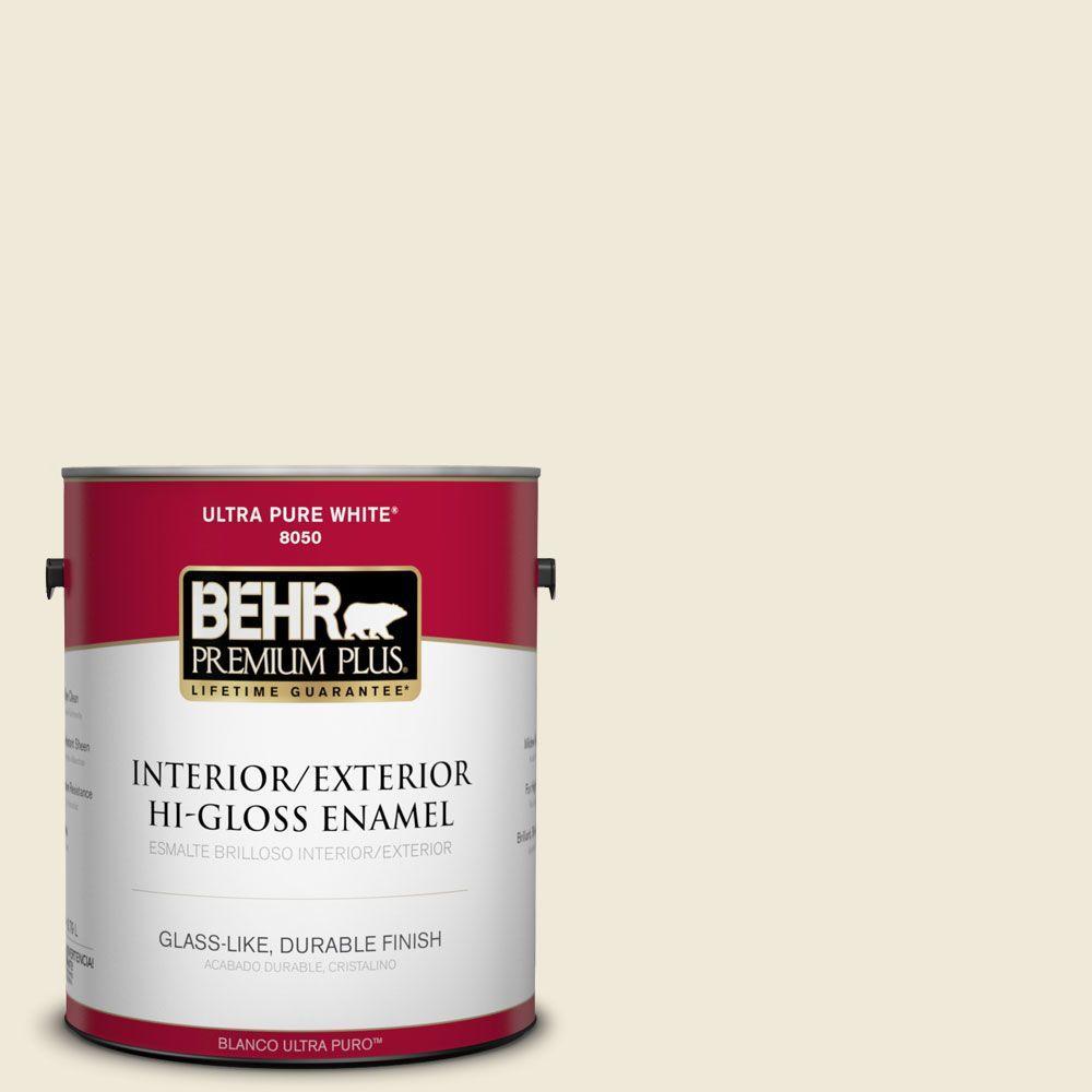 BEHR Premium Plus 1-gal. #ECC-64-2 Moonstruck Hi-Gloss Enamel Interior/Exterior Paint