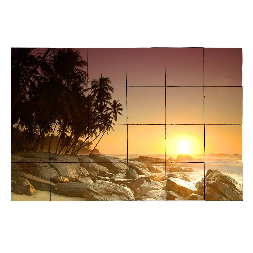 Tile My Style Beach2 36 in. x 24 in. Tumbled Marble Tiles (6 sq. ft. /case)
