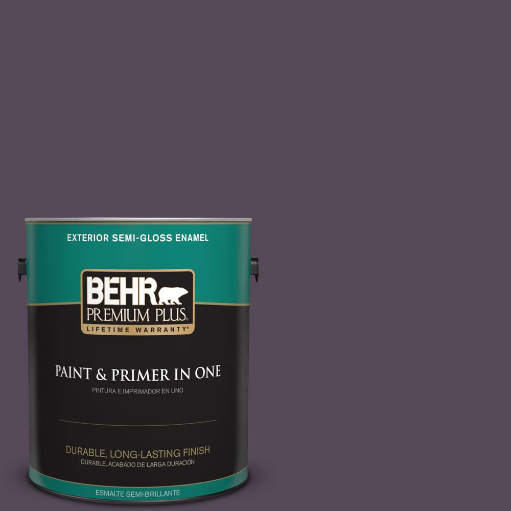 1-gal. #670F-7 Blackberry Wine Semi-Gloss Enamel Exterior Paint