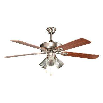 Marcos 52 in. Stainless Steel Ceiling Fan with Light Kit and 5 Blades