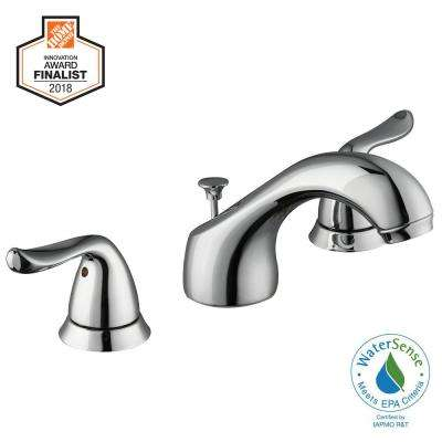 Constructor 8 in. Widespread 2-Handle Low-Arc Bathroom Faucet in Chrome