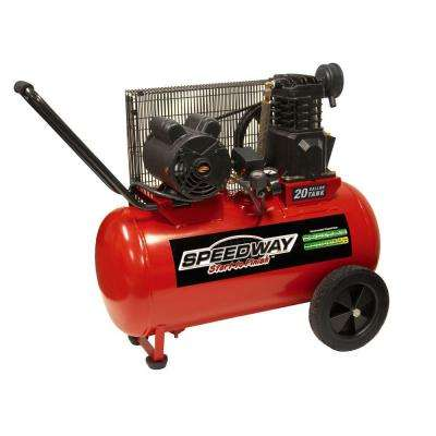 20 gal. Electric Powered Portable Air Compressor with Wheels
