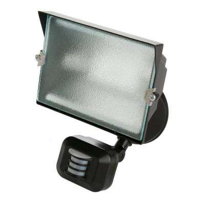 500-Watt 180° Diecast Metal Bronze Motion Activated Security Flood Light with Single Head