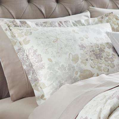 Flower Bed Linen Standard Pillow Sham