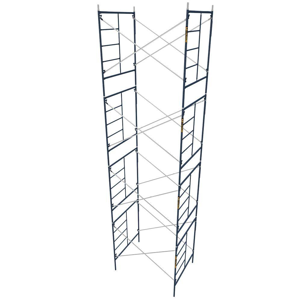 30 Foot Scaffolding : Werner ft portable rolling scaffold