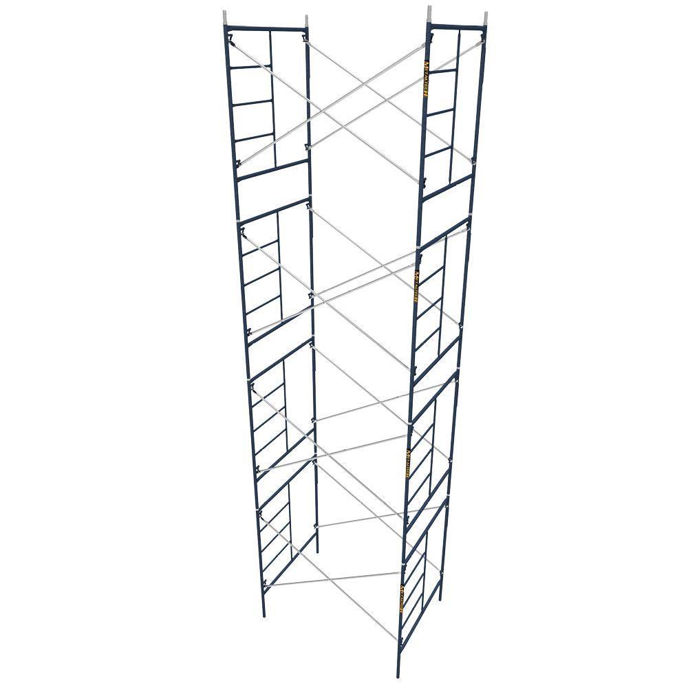 MetalTech Saferstack 5 ft. x 7 ft. x 6.4 ft. Mason Scaffold (Set of 4) by MetalTech