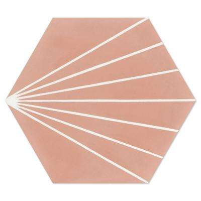 Spark C Coral PS 7-7/8 in. x 7-7/8 in. Cement Handmade Floor and Wall Tile