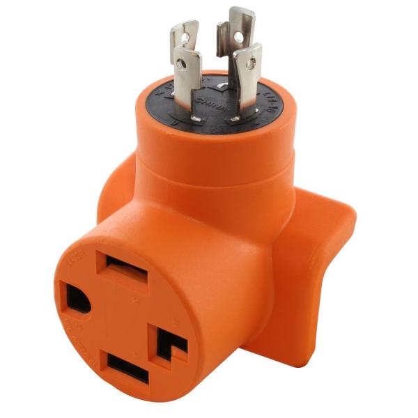 Generator to Dryer/EV Adapter 30 Amp 4-Prong L14-30P Generator Locking Plug to 4-Prong 30 Amp Dryer Female Connectors