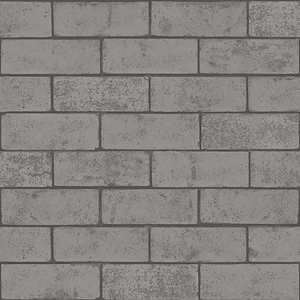56.4 sq. ft. Kirsten Dove Industrial Brick Wallpaper