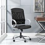 MODWAY Emblem Mesh and Vinyl Office Chair in Black