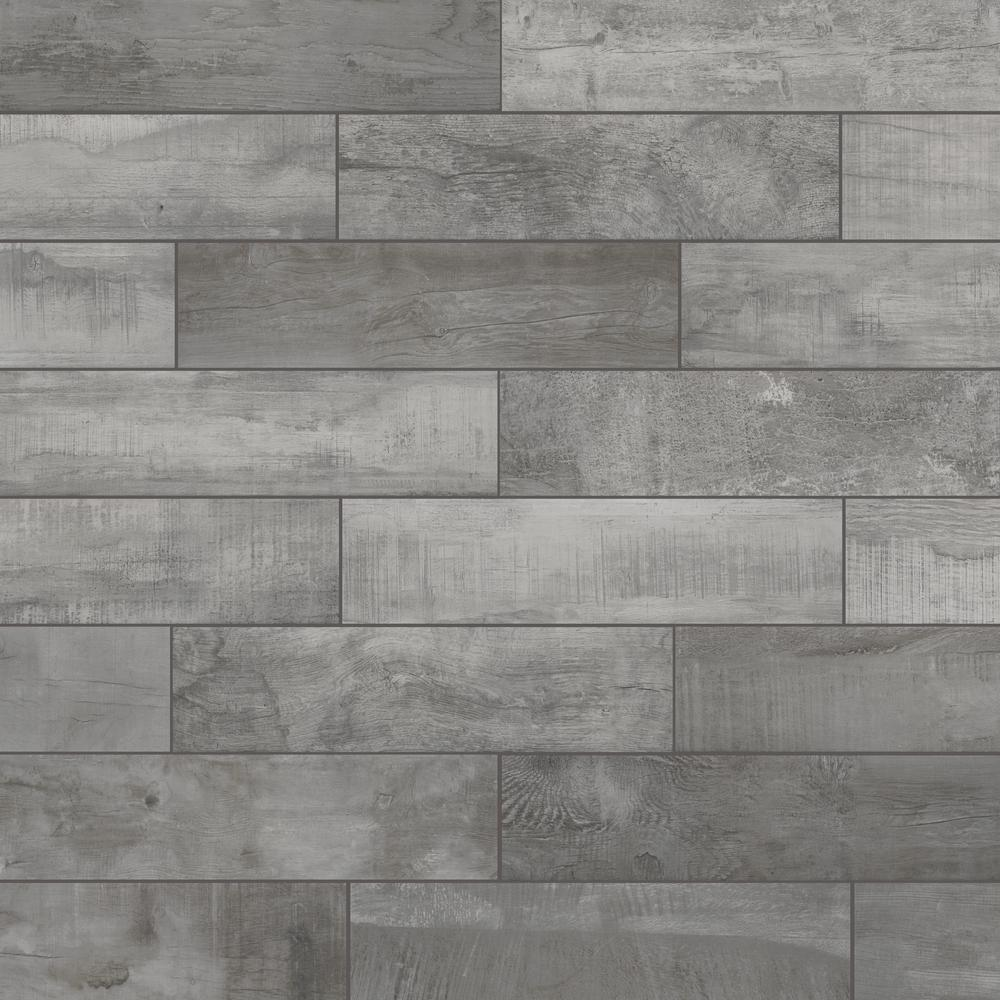 Florida Tile Home Collection Wind River Grey 6 in. x 24 in. Porcelain Floor and Wall Tile (448 sq. ft. / pallet)