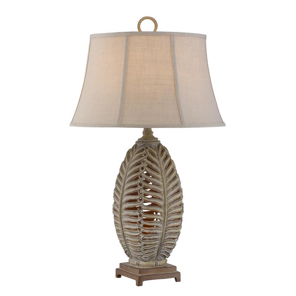 33 in. Sandstone Indoor Table Lamp Set