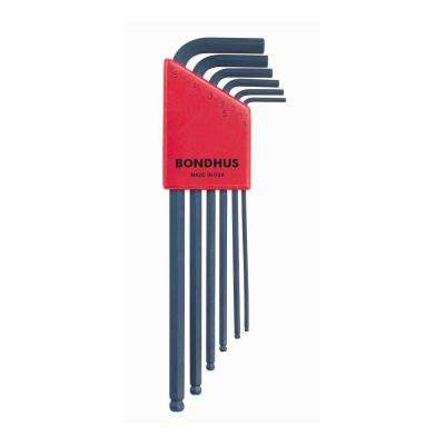 Metric Ball End Long Arm L-Wrench Set with ProGuard Finish (6-Piece)