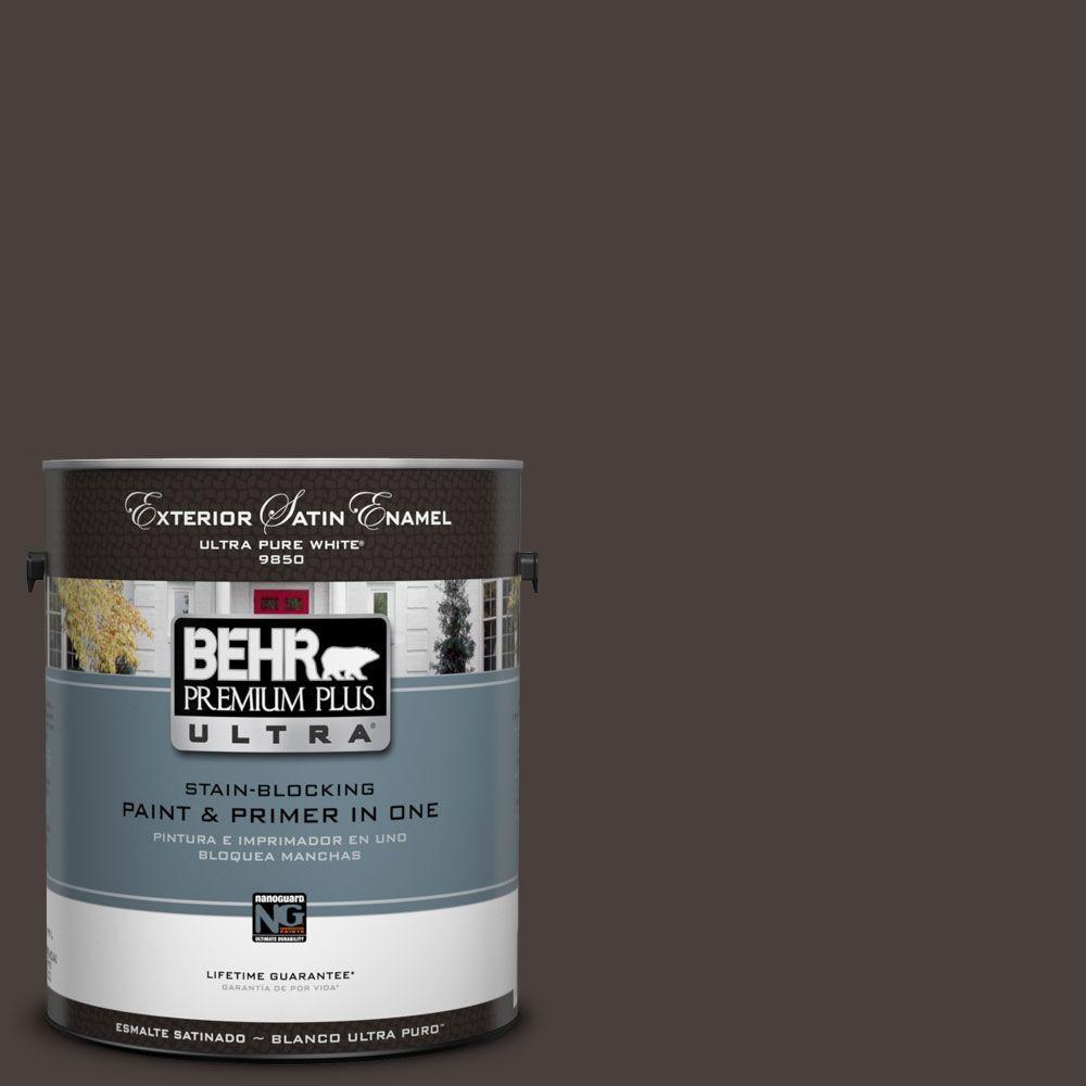 BEHR Premium Plus Ultra 1-Gal. #UL130-23 Sweet Molasses Satin Enamel Exterior Paint