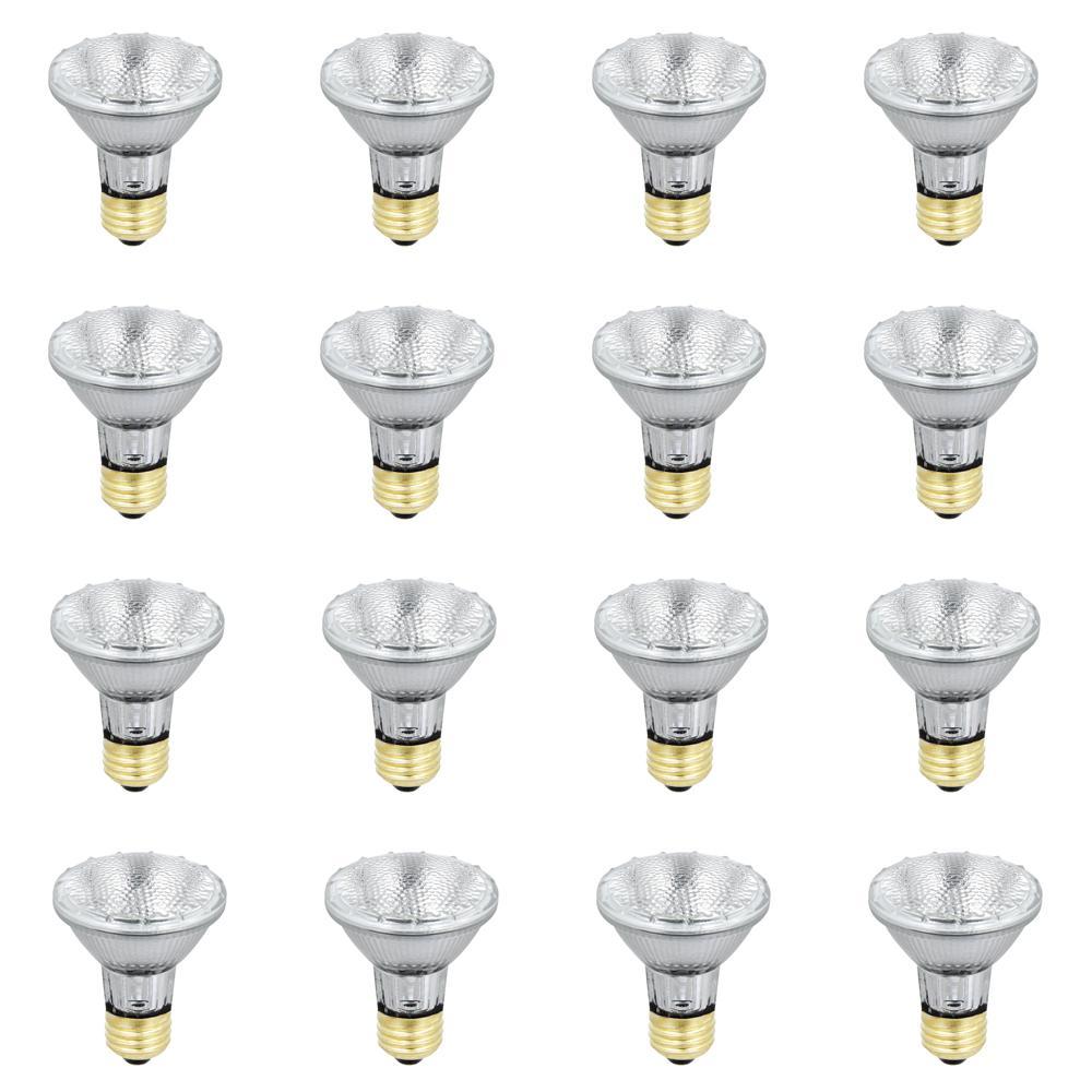 38-Watt Warm White (3000K) PAR20 Dimmable Energy Saver Halogen Flood Light Bulb (Case of 12)