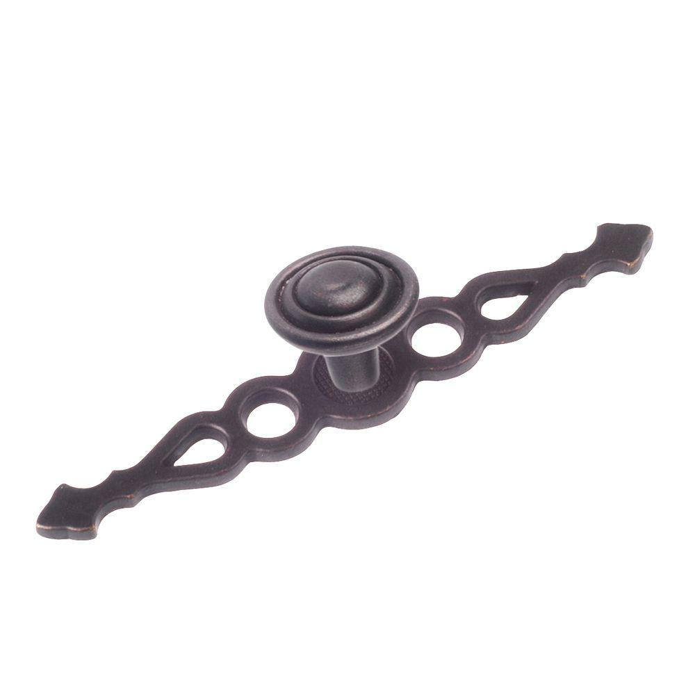 Richelieu Hardware 1 in. Anthracite Backplate Knob Decorate your home with this Richelieu Hardware 1 in. Anthracite Backplate (Knob) that includes a screw for easy installation. The backplate features a traditional design to accentuate your home's decor.