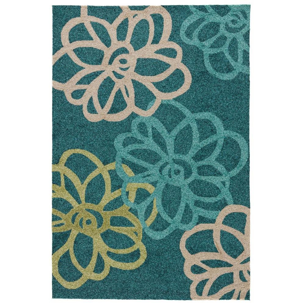 Foliage 8 ft. x 10 ft. Floral Indoor/Outdoor Area Rug