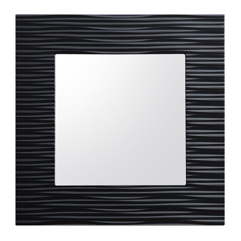 Zuvitria 32 in. W x 32 in. H Single Wall Hung Mirror in Black