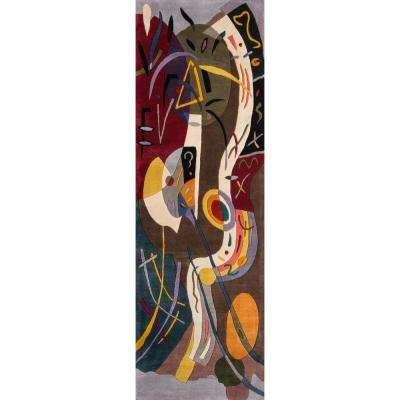 Contempo Multicolor 3 ft. x 12 ft. Indoor Runner Rug