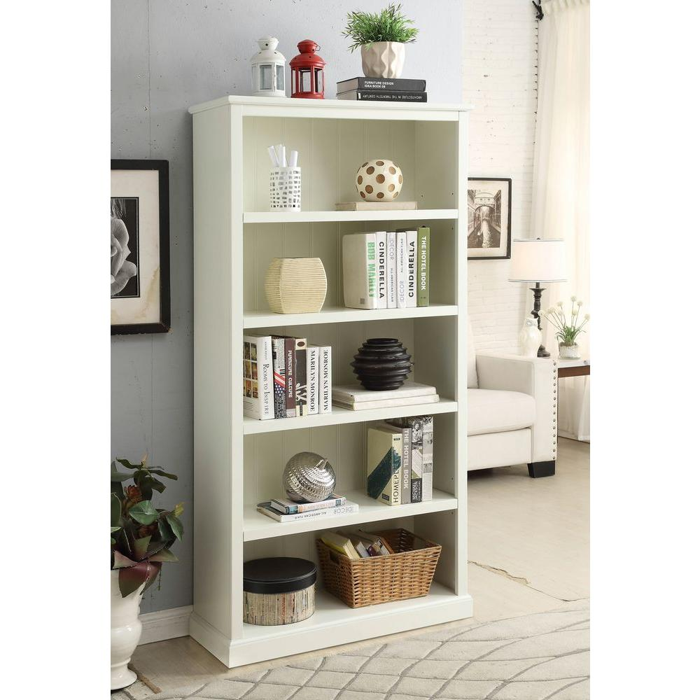 bassett home asp brown tall single furnishings bookcase open