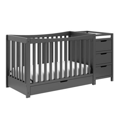 4-in-1 Remi Gray  Convertible Crib and Changer