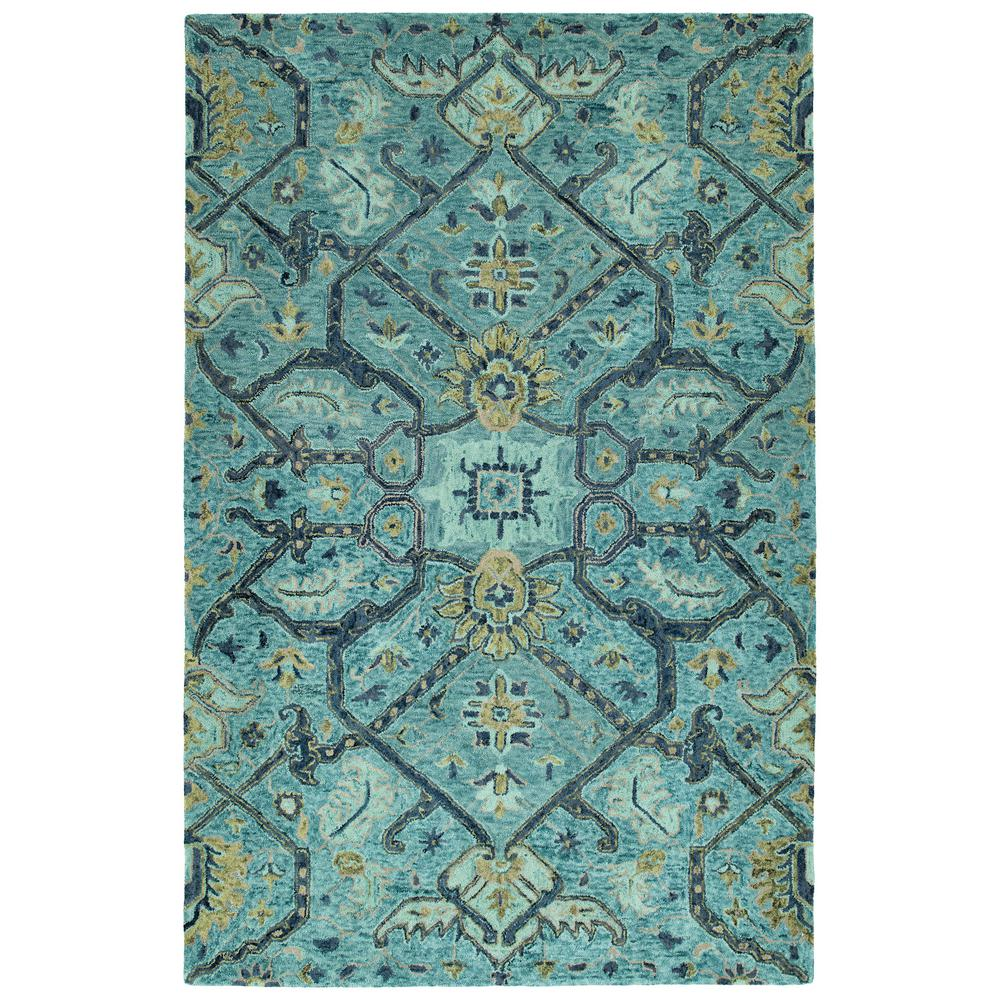 Kaleen Helena Turquoise Area Rug Reviews: Kaleen Chancellor Blue 8 Ft. X 10 Ft. Area Rug-CHA04-17