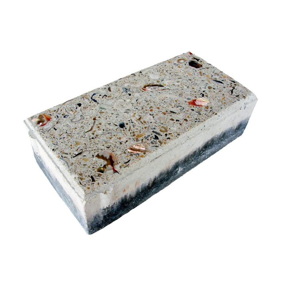 Earth Surfaces of America 4 in. x 8 in. Paver Bone with Shells and Abalone (100 sq. ft. per pallet)