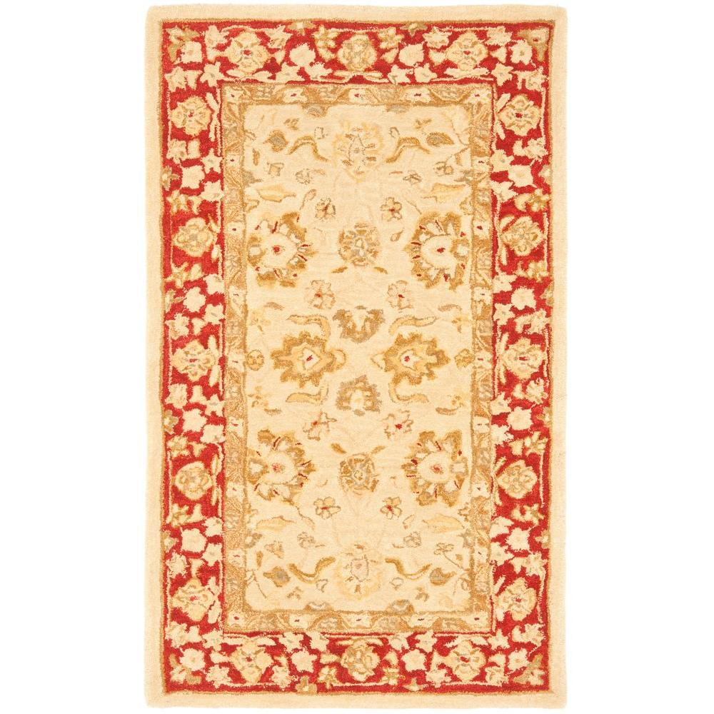 Anatolia Ivory/Red 3 ft. x 5 ft. Area Rug
