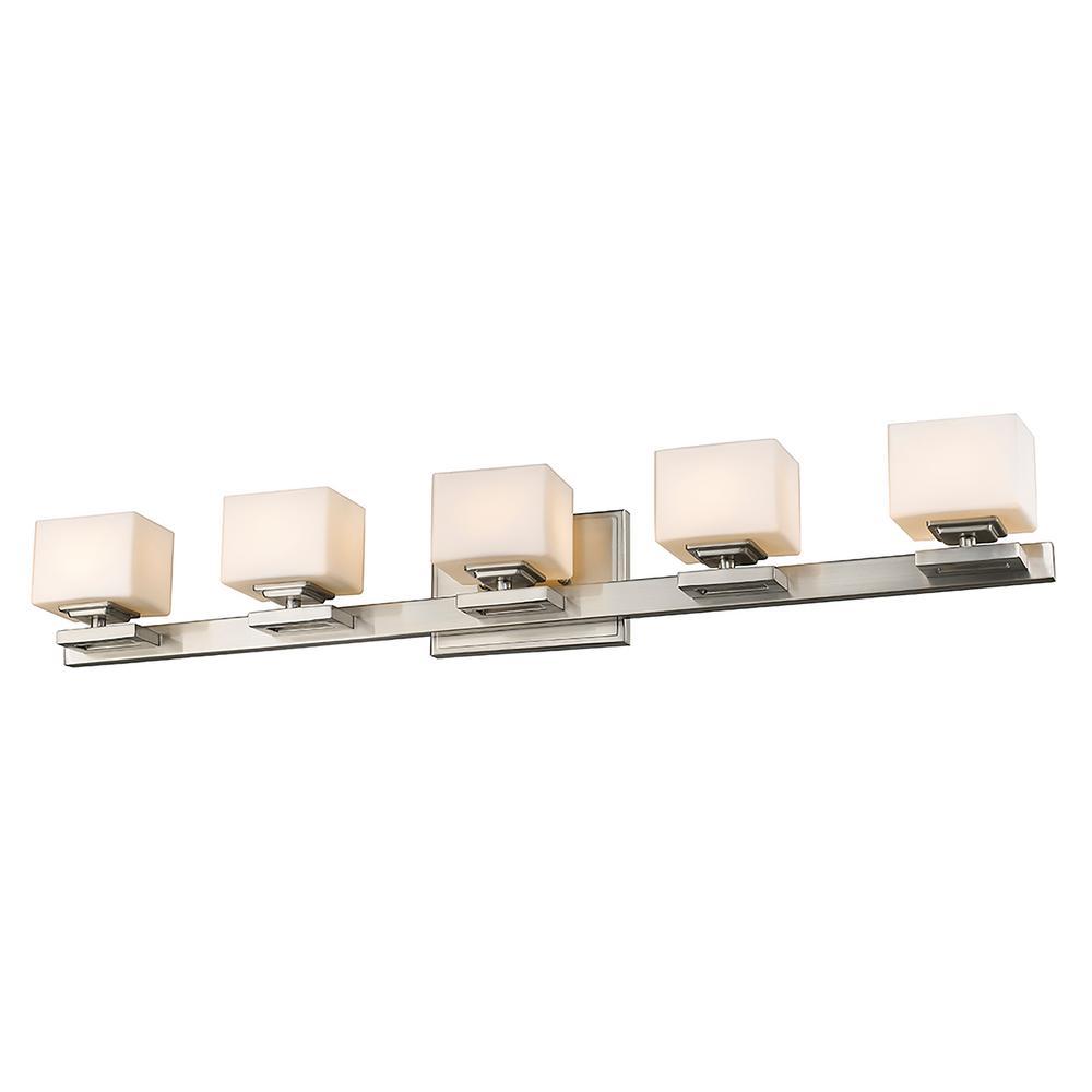 5-Light Brushed Nickel LED Bath Light