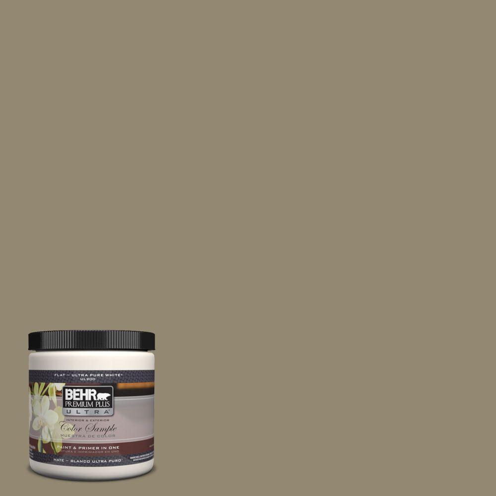 BEHR Premium Plus Ultra 8 oz. #UL190-3 Dry Pasture Interior/Exterior Paint Sample