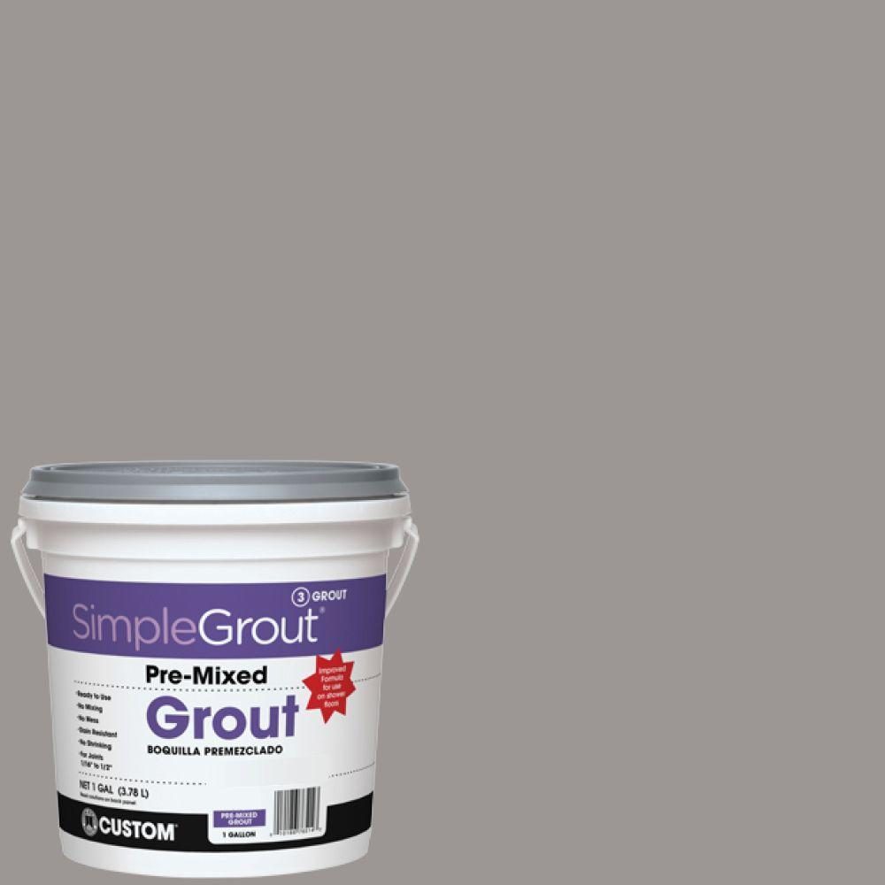Simplegrout 165 Delorean Gray 1 Gal Pre Mixed Grout