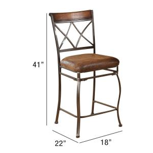 Astounding Acme Furniture Tavio 24 In Black Gold Brush Cushioned Bar Unemploymentrelief Wooden Chair Designs For Living Room Unemploymentrelieforg