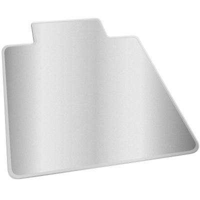 Medium Pile Clear 36 in. x 48 in. Vinyl SuperMat with Lip Chair Mat