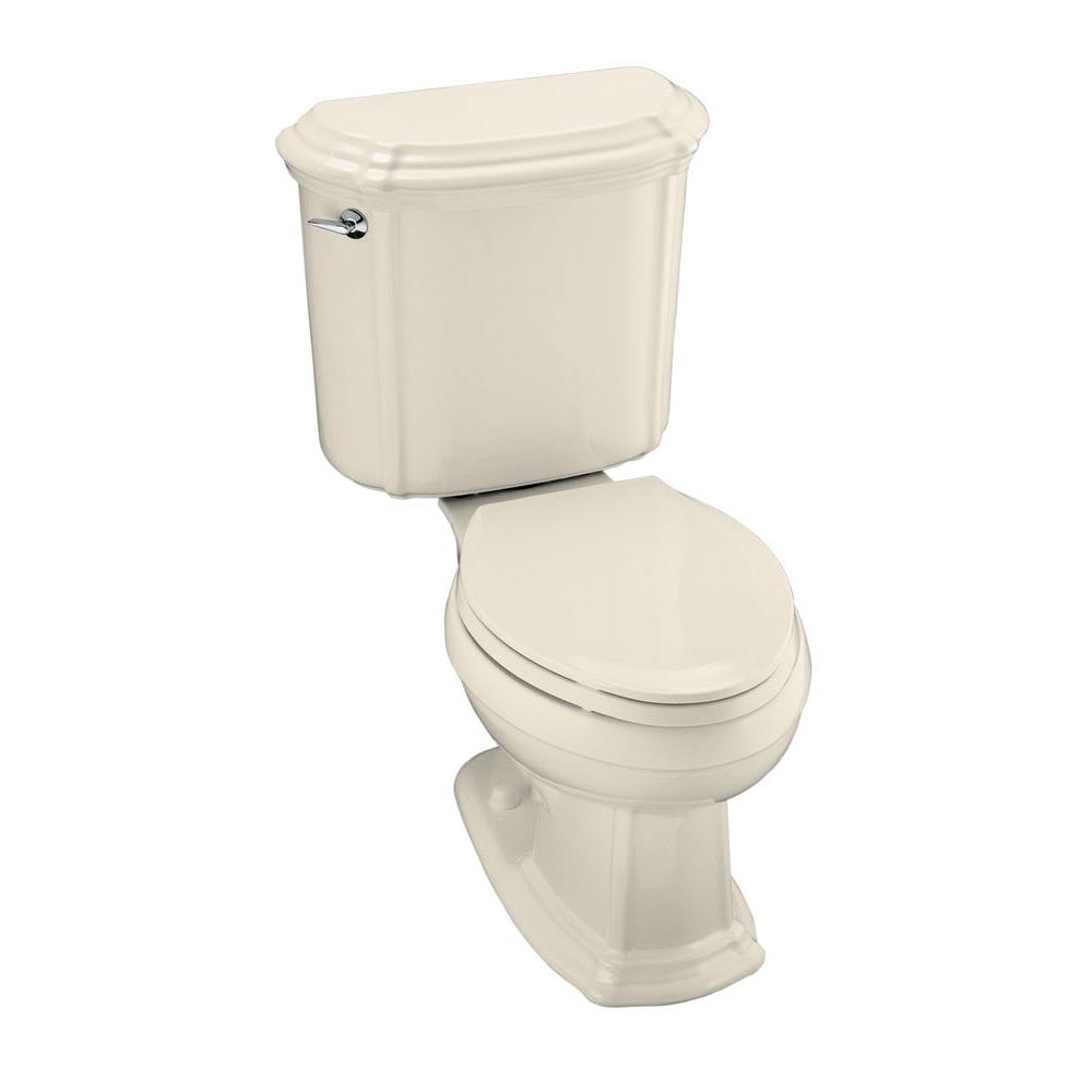KOHLER Portrait 2-piece 1.6 GPF Single Flush Elongated Toilet in Almond