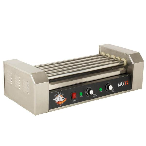 180 sq. in. Stainless Steel Hot Dog Roller Grill