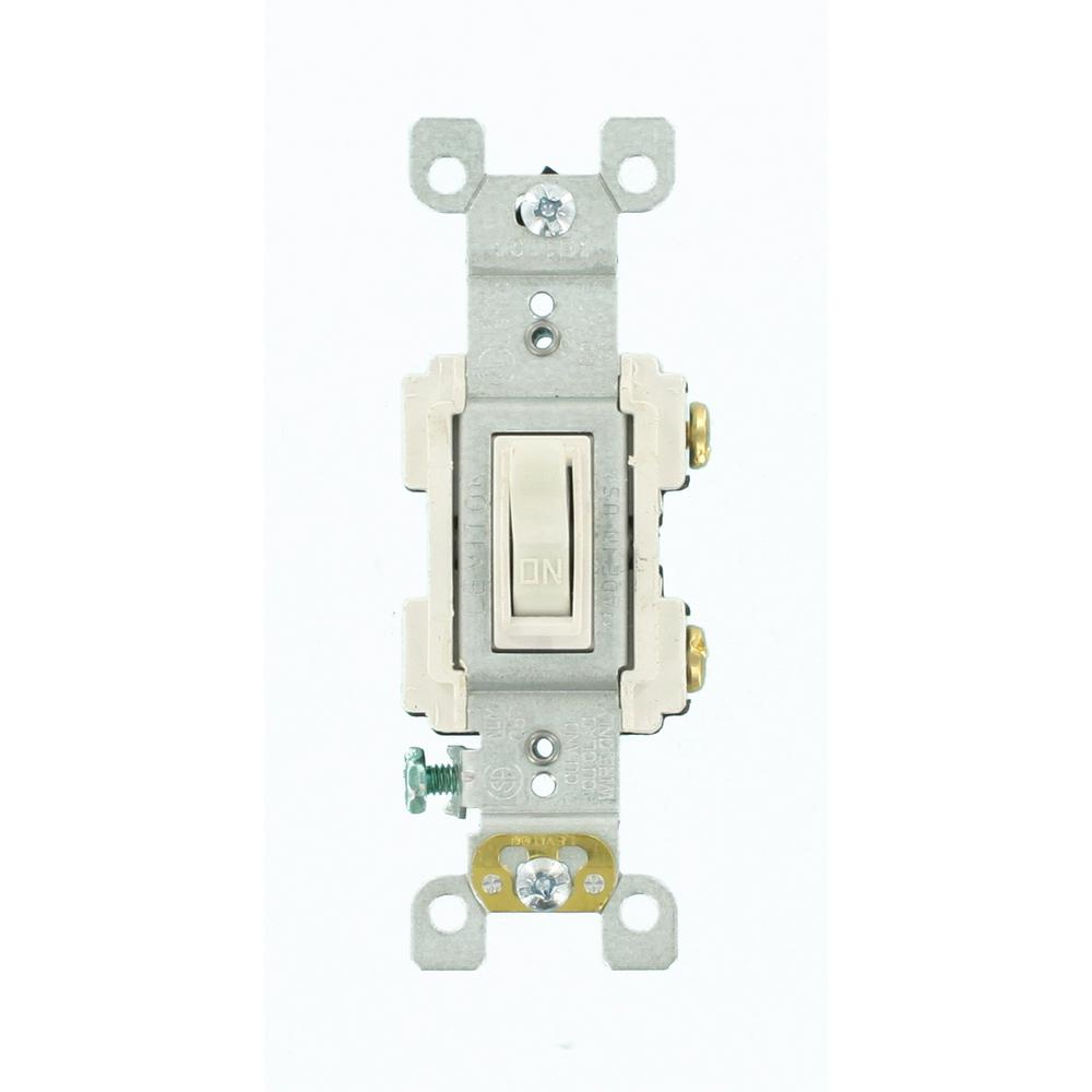 Leviton Decora 15 Amp 3 Rocker Combination Switch White R62 01755 Wiring Two Light Switches In One Box Diagram 0ws The Home Depot