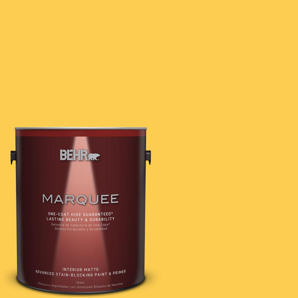 BEHR MARQUEE 1 gal. #T16-05 Canary Diamond Interior Matte Paint and ...