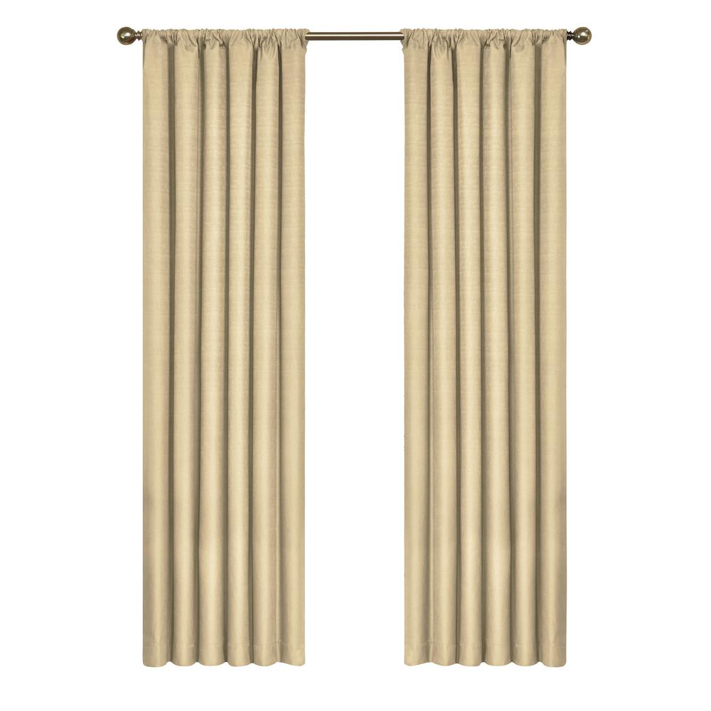 Eclipse Kendall Blackout Window Curtain Panel in Cafe - 42 in. W x 54 in. L