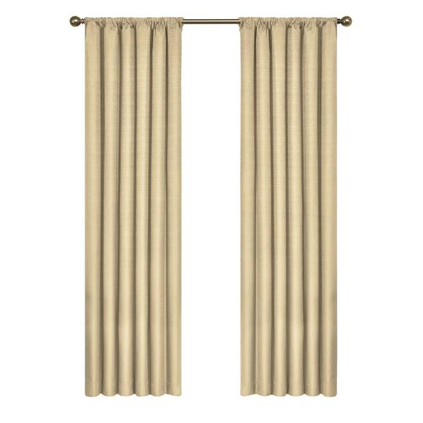 Kendall Blackout Window Curtain Panel in Cafe - 42 in. W x 84 in. L