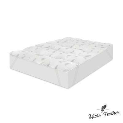 Quilted 2 in. California King Memory Foam and Micro-Feather Mattress Topper