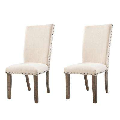 Dex Smookey Walnut Upholstered Side Chair Set