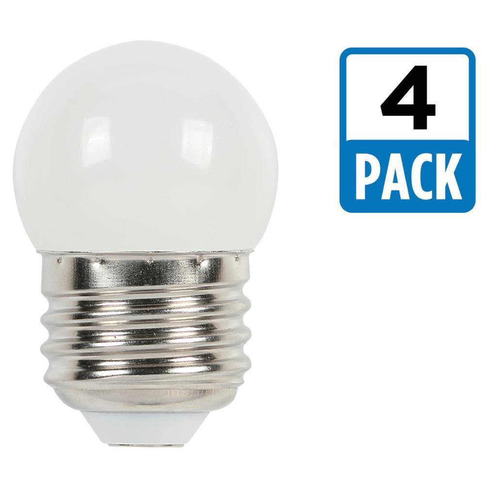 7-1/2W Equivalent White S11 LED Light Bulb (4-Pack)