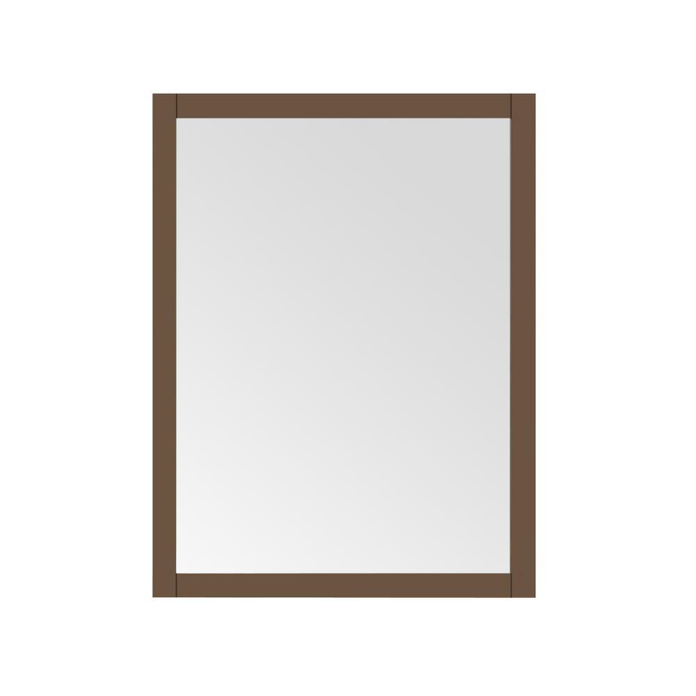 Aiken 24 in. W x 32 in. H Framed Rectangular Bathroom Vanity Mirror in Almond Latte