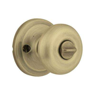 Juno Antique Brass Entry Door Knob Featuring SmartKey Security