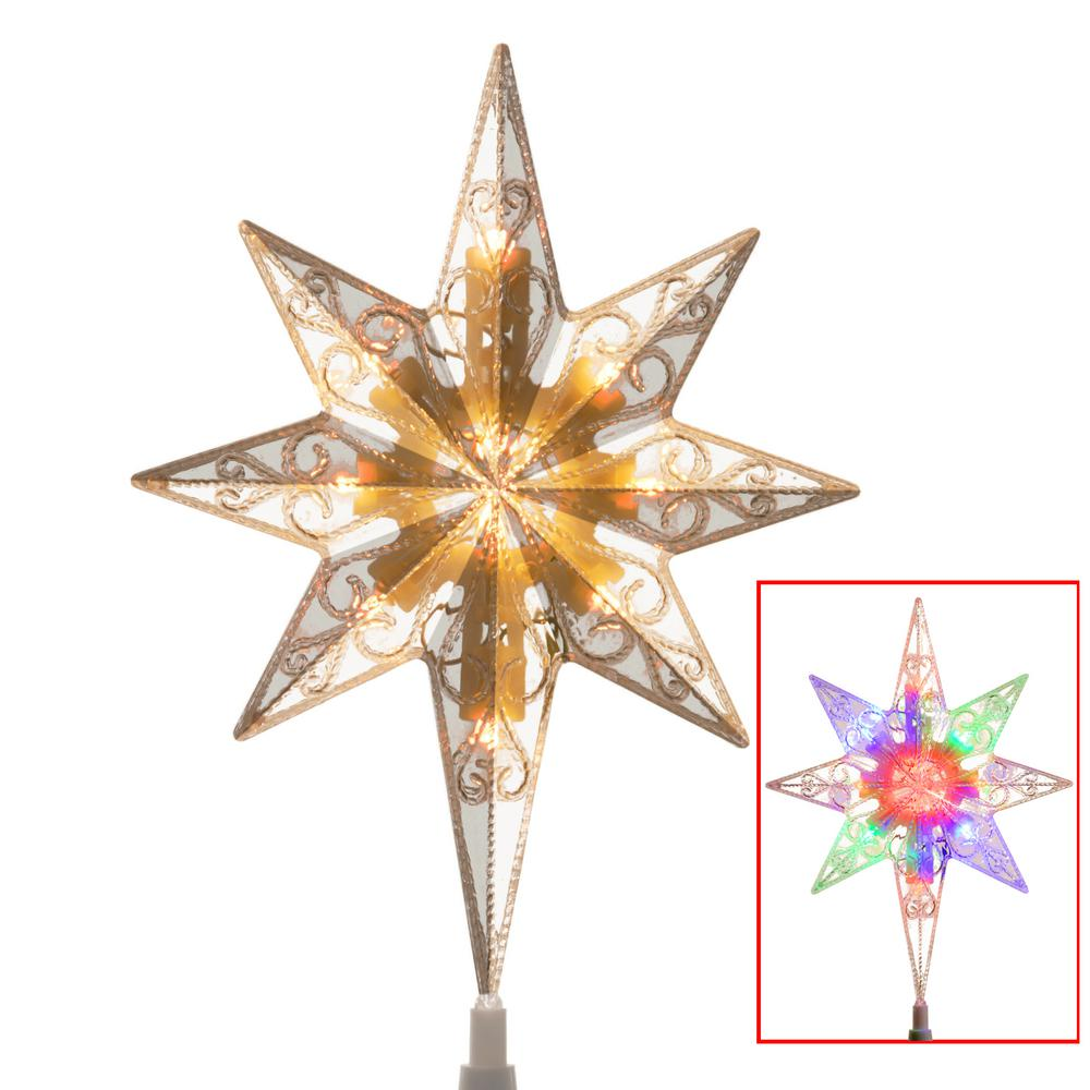 national tree company tree top star for artificial trees with dual color lights