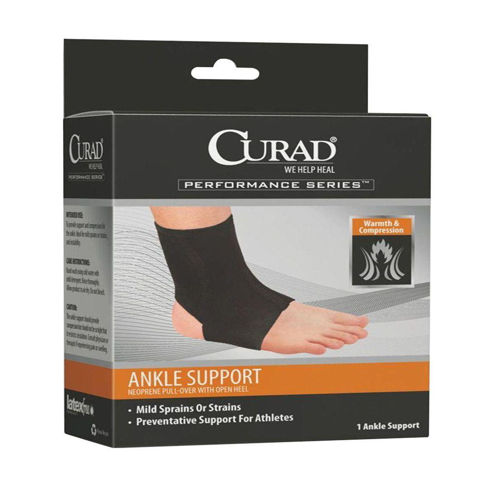 Curad 2X-Large Neoprene Open Heel Ankle Support